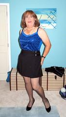 Blue top (Trixy Deans) Tags: cute sexy classic tv cd crossdressing tgirl tranny transvestite transgendered crossdresser crossdress skirts transsexual classy tgirls xdresser sexyheels trixydeans sexytransvestite