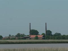 brick-factories EmsZiegeleien Cramer und Ledig (achatphoenix) Tags: rheiderland riverems rural river eastfrisia ems eau enroute ostfriesland brickfactories cramer leding emsziegeleien ziegeleien