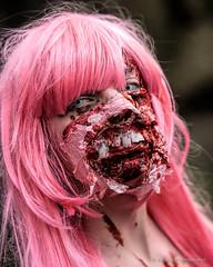 Zombie (09) (Jamoor) Tags: london girl female blood zombie streetphotography 2015 jamoor worldzombieday nikon70200mm28g nikond4s