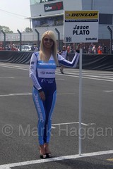 Jason Plato's grid board during the BTCC weekend at Oulton Park, June 2016 (MarkHaggan) Tags: btcc 05jun2016 2016 btcc2016 oultonpark oulton cheshire weekend circuit motorsport motorracing track car vehicle race touringcars britishtouringcarchampionship gridgirls gridgirl jasonplato plato teambmr bmr subaru silverlinesubarubmrracing subarulevorggt levorg