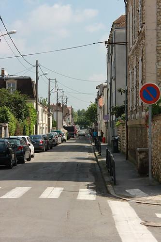 Rue Camille Flammarion après le retrait de l'eau