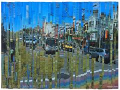 Castro Field (tofuart) Tags: sanfrancisco california travel art nature collage rainbow time mixedmedia flag muni castro 24 divisadero