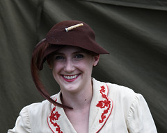 Girl in a hat (albionphoto) Tags: usa reading kate pa b17 worldwarii mosquito corsair mustang fifi dday flyingfortress b29 superfortress maam dehavilland p51d