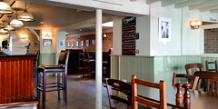 Non-standard (innpictime  ) Tags: bar menus grey restaurant pub artist gallery beers interior paintings ely dining lamps decor ales cambridgeshire furnishings dado cruet exhibited greeneking royalstandard isleofely caskales forehill 523982880267517
