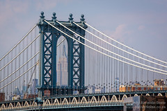 Williamsburg Bridge & Empire State Building - seen from the Brooklyn Bridge, New York