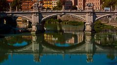 riflessioni (giumichi) Tags: roma river ponte tevere riflessi reflexion