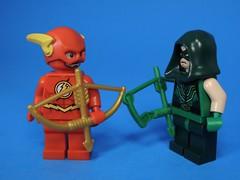Golden Arrow (MrKjito) Tags: lego minifig flash green arrow dc comics super hero comic cw flarrowverse speed force carbon fiber