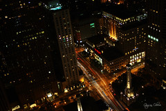 A view of the night (gagan.oberoi) Tags: chicago city night view cars light lighttrail travel