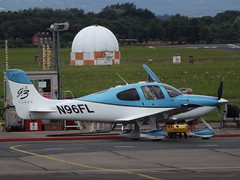 N96FL Cirrus SR22 (Aircaft @ Gloucestershire Airport By James) Tags: gloucestershire airport n96fl cirrus sr22 egbj james lloyds