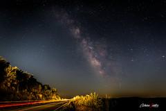 Road to Milky Way (adrivallekas) Tags: hurdes valctea milkyway extremadura astronoma constelacin estrellas stars sky night noche summer verano astronomy constellation canoneos6d lashurdes longexposure car road galaxy