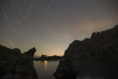 Star trails over Laserzsee (Bernhard_Thum) Tags: bernhardthum lienzerdolomiten thum laserzsee nikond800e carlzeiss distagon1528zf distagont2815 nature alps karlsbaderhtte night nightonearth elitephotography landscapesdreams