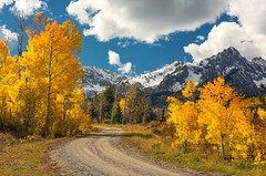 Fall Is Coming! (Happy Photographer) Tags: autumn fall aspen mountains sanjuan country road amyhudechek nature landscape colorado