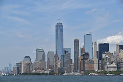 Picture Taken From The Staten Island Ferry Showing The Lower Manhattan Skyline Including One And Seven World Trade Center. Photo Taken Monday June 27, 2016 (ses7) Tags: staten island ferry viewlower manhattan skyline