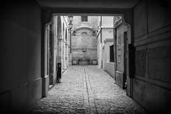 DSC_5179 (Michel Poitrenaud) Tags: paris lanterne streetlamp cobblestones porch cobbles porche pavs lemarais villagesaintpaul