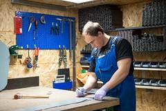DSC02318 (AlexPlonsky) Tags: metal shop work fan construction ironman production stronghands funjob chimneycap workingguys flexiblemetal