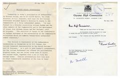 Correspondence regarding Guyanese Independence, May 1966