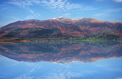 Double Vision (Caleb4ever) Tags: england sky mountain mountains reflection clouds reflections landscape scenery lakes lakedistrict scenic scene hills snowcapped cumbria fells englishlakes cloudformations snowcappedmountain englishlakedistrict caleb4ever