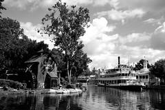 Steamboat Magic Kingdom (Jason Short 2008) Tags: blackandwhite clouds disneyworld magickingdom