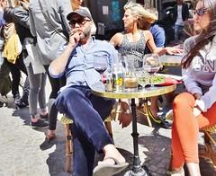 2015-05-30  Paris - Au Rocher de Cancale - 78 Rue Montorgueil (P.K. - Paris) Tags: street people paris café french terrace candid may terrasse sidewalk mai 2015