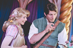 Rapunzel & Flynn (dolewhip) Tags: disneyland disney rapunzel royaltheatre fantasyfaire flynnrider