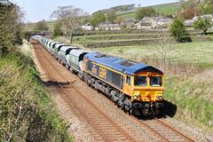 Arcow Stone At Back Lane. (neilh156) Tags: railway jayne backlane class66 longpreston stonetrain gbrf 66708 settletocarlislerailway arcowstone