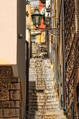 Uliczka jak uliczka, nie dla rowerzystw (zbyszekski) Tags: street landscape nikon italia taormina sicilia architektura sycylia nikonphotography