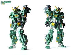 S.Dragon (Devid VII) Tags: detail green mobile sand war dragon lego military dragons troopers suit wars gundam vii mecha mech moc devid foitsop devidvii