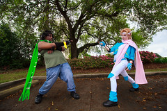 Caesar Zeppeli, Jojo's Bizarre Adventure Cosplay (firecloak) Tags: blue anime hair cosplay caesar adventure blonde bizarre jojos crossplay zeppeli louisianime