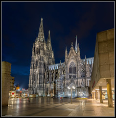 Kln / Cologne (rapp_henry) Tags: nightphotography nikon nightlights nightshot cathedral gothic kathedrale cologne kln bluehour worldheritage nachtaufnahme gotik weltkulturerbe d800 langzeitbelichtung blauestunde tamron1530mm28