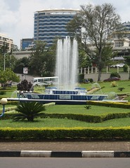 Fountain (My photos live here) Tags: africa city urban fountain canon circle island eos traffic capital kigali rwanda 1000d