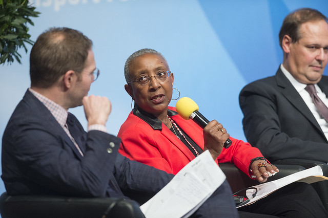 Angela Gittens in discussion with Greg Lindsay