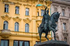 The statue of ban Josip Jelai, Zagreb (v.Haramustek) Tags: vienna wien sculpture history monument square austria hungary symbol outdoor ngc croatia zagreb ban croatian austrohungaria ststue trgbanajelaia josipjelai monarhy