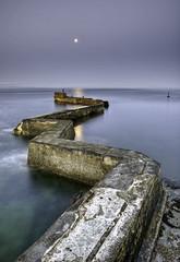 Moonlit Breakwater (Gringer1) Tags: scotland harbour fife moonlight breakwater stmonans eastneuk