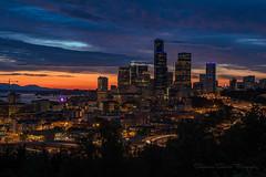 Seattle Love (Stephanie Sinclair) Tags: seattle city sunset stephaniesinclairphotography seattleempress