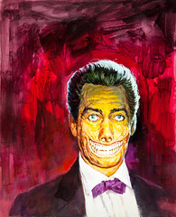"""Famous Monsters of Filmland #126 (1976) """"Mr. Sardonicus"""" cover by Basil Gogos (Tom Simpson) Tags: illustration vintage painting horror 1970s 1976 famousmonsters basilgogos famousmonstersoffilmland sardonicus mrsardonicus"""