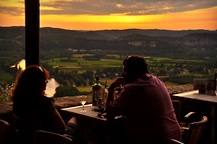 Life could be a dream sweetheart (Basse911) Tags: greatview restaurant couple lebelvedere evening domme dordogne france
