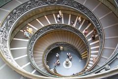 "Exit spiral ""Momo"" staircase (Seoirse) Tags: spiral staircase vatican rome italy"