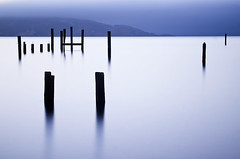 All Things Must Pass (PatrickJamesPhoto) Tags: ocean sanfrancisco california longexposure beach water fog sunrise bay pilings angelisland sausalito peir swede