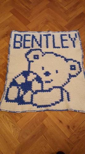 Teddy bear blanket for Bentley