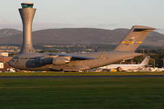 07-7181-EDI080816 (MarkP51) Tags: 077181 mcdonnell douglas c17a globemaster iii usaf military transport edinburgh airport edi egph scotland aviation aircraft airplane plane image markp51 nikon d7200