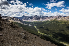 A quick view of the valley from Bald Hills (mzagerp) Tags: road trip usa canada rockies rocheuses etats unis mzagerp jasper national park black bear ours brun lake maligne lac valley bald hills caribou mountain goat chvres de montagne angel glacier