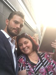 annnnd, got to get pix / autograph.  apparently i will never grow up ;-) (cybermelli) Tags: jamie dornan picture fan autograph