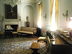 ~ The Music Room .......                       ( H.B.M ) (~ Cindy~) Tags: piano bench furniture wallhangings lights lamps wallhangingsstonemountain davisfamilyhome antebellumn plantation