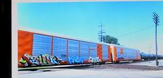(timetomakethepasta) Tags: value much hm freight train graffiti art autorack bnsf
