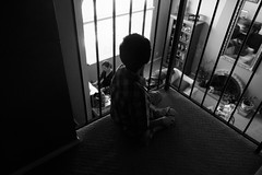 Balcony Seating (Wiley C) Tags: bw blackwhitephotos candid july2016 torrance california piano recital silhouette stairs landing artinbw