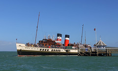 Yarmouth Pier (Treflyn) Tags: solent paddle steamer waverley leaves yarmouth pier isleofwight timeline events