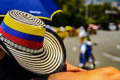 This is Colombia, not Columbia (Juan David Rivera, Fotgrafo) Tags: colors colores bandera flag sombrero amarillo yellow azul blue rojo red sol sun sunnydays