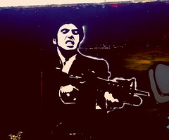 #stencil #tony #montana #scarface #sayhellotomalittlefriend #fuckbitches (saibenscrew) Tags: stencil montana tony scarface fuckbitches sayhellotomalittlefriend