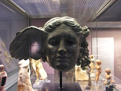 The Bronze Head of Hypnos (jere7my) Tags: greatbritain vacation england sculpture london statue museum bronze god unitedkingdom sleep wing britishmuseum 2014 hypnos bronzeheadofhypnos