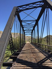 Wayne CN bridge (jasonwoodhead23) Tags: railroad bridge abandoned cn hiking wayne trail drumheller alberta infrastructure badlands truss steelarchbridge